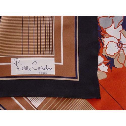 Silk scarf original vintage Pierre Cardin