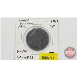 Lower Canada Half Penny Token 1812