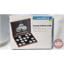 Leuchtturm Canada $100 for $100 Presentation Case for 20 $100 for $100 Fine Silver Coins (New in Box