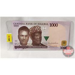 Central Bank of Nigeria $1000 Naira 2010