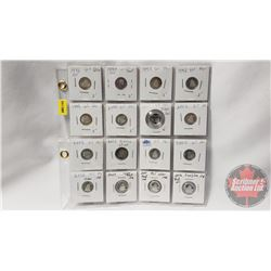 Canada Ten Cent - Sheet of 16 (Proof): 1996; 1997; 1997; 1998; 1999; 2000; 2001; 2002; 2003; 2003; 2