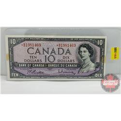 Canada $10 Bill 1954 *Replacement : Beattie/Rasminsky *BD1981469