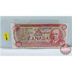 """Canada $50 Bill 1975 : Lawson/Bouey HC7021145 """"Musical Ride"""""""