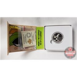 """RCM 2015 Looney Tunes $10 Fine Silver Coin (99.99%) """"Where's The Kaboom?"""""""