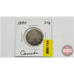 Canada Twenty Five Cent 1880