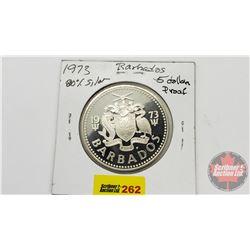 Barbados $5 Dollar Proof 1973