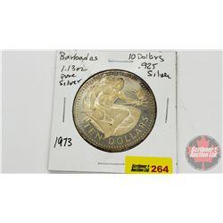 Barbados $10 Dollar Proof 1973