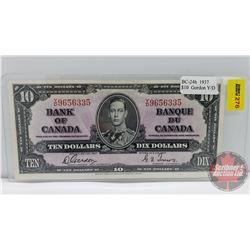 Canada $10 Bill 1937 : Gordon/Towers YD9656335