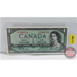 Canada $1 Bill 1954 : Beattie/Coyne NL6344394