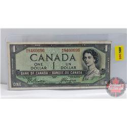 Canada $1 Bill 1954DF : Beattie/Coyne MA8460696