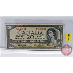 Canada $20 Bill 1954DF : Coyne/Towers AE3546661