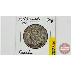Canada Fifty Cent 1953NSF Small Date