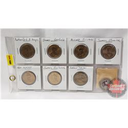 US One Dollar Coins (8) : (See Pics for Presidents)