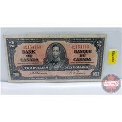 Canada $2 Bill 1937 : Osbourne/Towers AB2154143