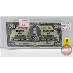 Canada $20 Bill 1937 : Osbourne/Towers AE0951015
