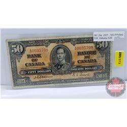 Canada $50 Bill 1937 : Osbourne/Towers AH0035709