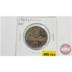 Canada Silver Dollar 1953SF, FWL