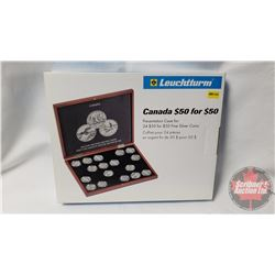 Leuchtturm Canada $50 for $50 Presentation Case for 20 $100 for $100 Fine Silver Coins (New in Box)
