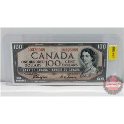 Canada $100 Bill 1954DF : Coyne/Towers AJ0326968