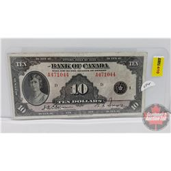 Bank of Canada $10 Bill 1935 : Osbourne/Towers A471044