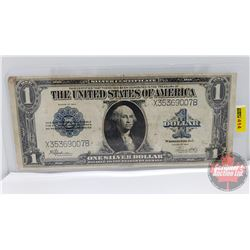 """US $1 Bill """"One Silver Dollar"""" 1923 """"Horse Blanket"""" (See Pics for Signatures/Serial Numbers)"""