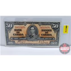 Canada $50 Bill 1937 : Coyne/Towers BH4511670 (See Pics for Signatures/Serial Numbers)