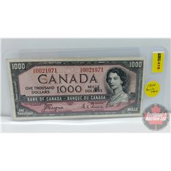 Canada $1000 Bill 1954DF : Coyne/Towers S/N#AK0021971 (See Pics for Signatures/Serial Numbers)