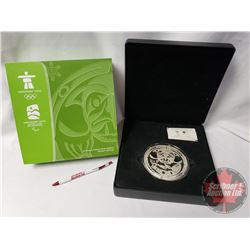 """RCM 2009 PURE SILVER $250 KILO COIN : Vancouver 2010 Olympic Winter Games """"Surviving the Flood"""" (99."""