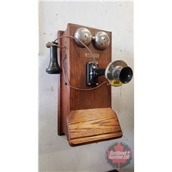 """Wood Box Telephone """"The Northern Electric & Manufacturing Co. Ltd."""" (20""""H x 8-1/2""""D)"""