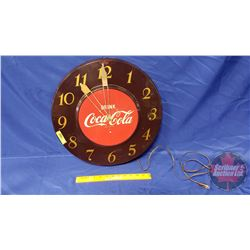 """Drink Coca-Cola"" Electric Wall Clock (17-1/4""Dia)"