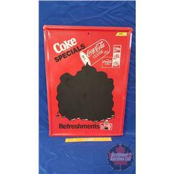 """COKE Specials"" Chalkboard ""Refreshments"" (27-3/4"" x 19-3/4"")"