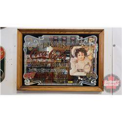 """Coca-Cola Framed Mirror """"Delicious"""" (25"""" x 35"""")"""
