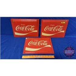 "Enjoy Coca-Cola Lense Inserts (3) (9"" x 12-1/2"")"