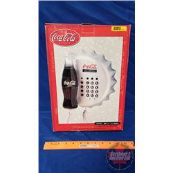 """Coca-Cola Contour Bottle Telephone (NIB) """"Always Coca-Cola Musical Ring"""""""