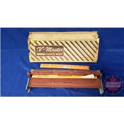 """V-Master Cigarette maker in Orig Box (17"""" x 6"""" x 1-1/2"""")"""