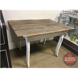 """Rustic Wood Table (31""""H x 46""""W x 33""""D)"""