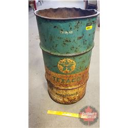 """Texaco Barrel (26""""H x 14""""Dia)"""