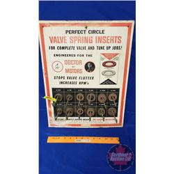 """""""Perfect Circle"""" Cardboard Counter Top Display Rack w/Products """"Valve Spring Inserts"""" (18""""H x 14""""W x"""
