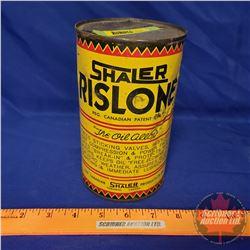 "Oil Tin: Shaler Rislone (6-1/2""H x 4""Dia)"