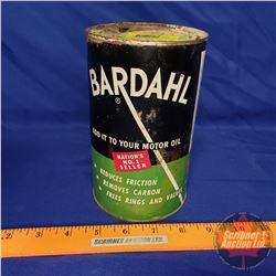 """Oil Tin: Bardahl Motor Oil (6-1/2""""H x 4""""Dia)"""