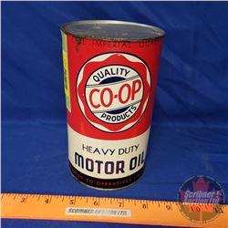 """Co-Op Heavy Duty Motor Oil (6-1/2""""H x 4""""Dia)"""