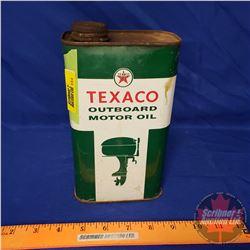"Texaco Outboard Motor Oil Tin (8"" x 4-1/2"" x 2-1/4"")"