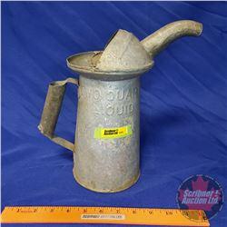 """Oil Pitcher """"2 Quart Liquid"""" Galvanized (11""""H)"""