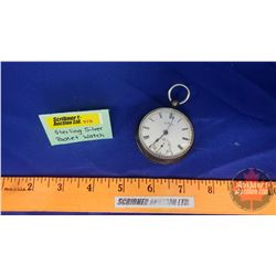 "Sterling Silver Pocket Watch ""AM Watch Co."" Waltham"