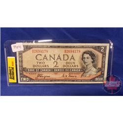 Canada $2 Bill 1954DF Coyne/Towers #BB2694178