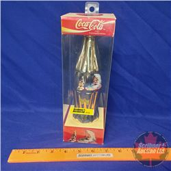 "Coca-Cola Commemorative Bottle ""Gold"" 1993 Santa in Orig Box (9-1/2""H x 3""W x 3""D)"