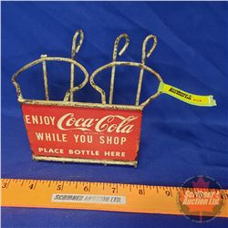 "Coca-Cola Vintage Shopping Cart Bottle Holder ""Enjoy Coca-Cola While You Shop - Place Bottle Here"" ("