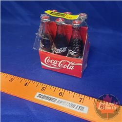"Mini Coca-Cola Bottles - Full - 6pk - in orig pkg unopened 1992 (3""H x 2-1/2""W x 1-3/4""D)"