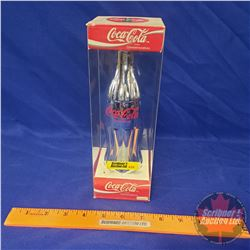 "Coca-Cola Commemorative Bottle ""Silver"" 1994 in Orig Box (9-1/2""H x 3""W x 3""D)"