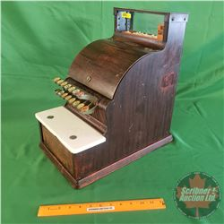 "Candy Store Cash Register ""National"" (17""H x 10""W x 16""D) (Metal Cabinet / Marble Shelf)"